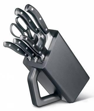Набор кухонных ножей Victorinox Forged Cutlery Block черный, в комплекте 6шт. подставка (7.7243.6)
