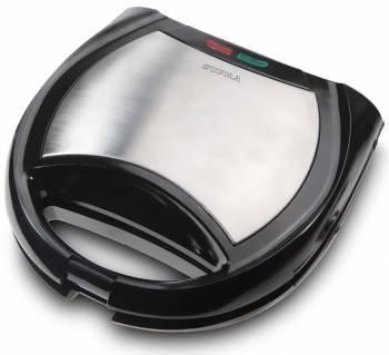 Вафельница Supra WIS-444 черный / серебристый