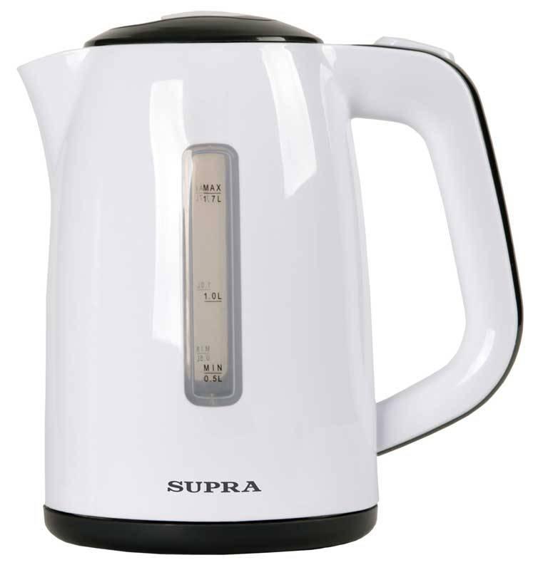 Чайник электрический Supra KES-1728 белый/серый - фото 1
