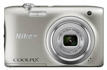 Фотоаппарат Nikon CoolPix A100 серебристый (VNA970E1)