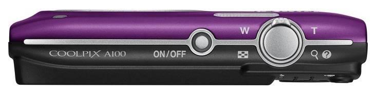 Фотоаппарат Nikon CoolPix A100 фиолетовый (VNA973E1) - фото 3