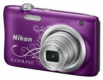 Фотоаппарат Nikon CoolPix A100 фиолетовый / рисунок