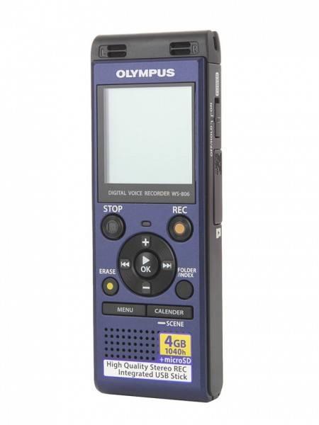 Диктофон 4Gb Olympus WS-806 синий - фото 1
