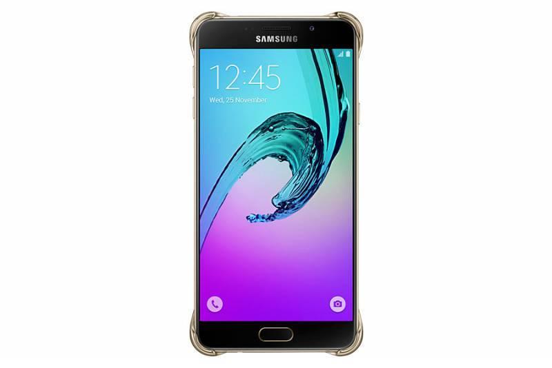 Чехол Samsung Clear Cover, для Samsung Galaxy A7 (2016), золотистый/прозрачный (EF-QA710CFEGRU) - фото 1