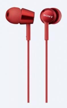 Наушники Sony MDREX150R.E красный, вкладыши, крепление в ушной раковине, проводные, Г-образный коннектор, кабель 1.2м
