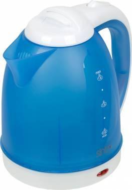 Чайник электрический Sinbo SK 7355 синий, объём 1.8л, мощность 2200Вт, материал корпуса: пластик