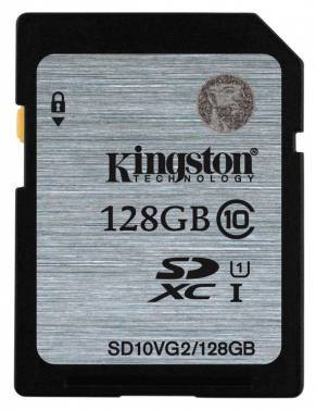 Карта памяти SDXC 128Gb Class10 Kingston SD10VG2 / 128GB