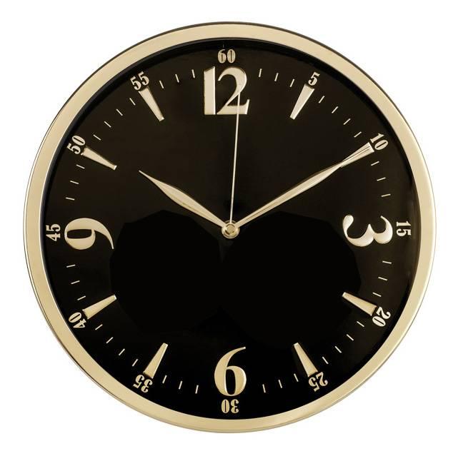 Настенные часы Бюрократ WallC-R25M черный (WALLC-R25M/BLACK) - фото 1