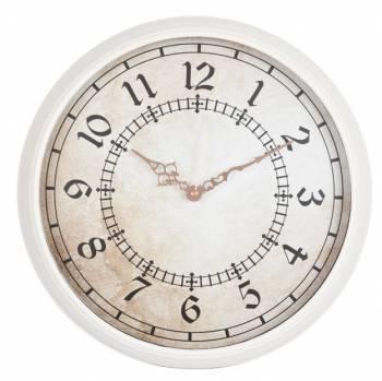 Настенные часы Бюрократ WallC-R27P белый (WALLC-R27P/WHITE)