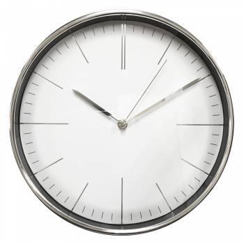 Настенные часы Бюрократ WallC-R28P аналоговые хром
