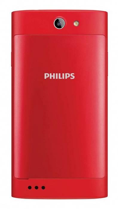 Смартфон Philips S309 8ГБ красный - фото 2