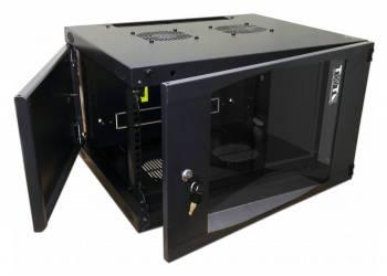 Шкаф настенный Lanmaster Next TWT-CBWNG-6U-6X4-BK 6U черный