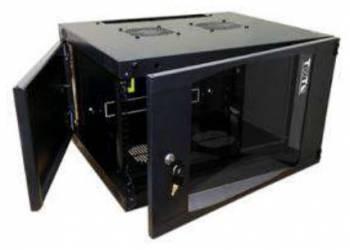 Шкаф коммутационный Lanmaster TWT-CBWNG-6U-6X6-BK 6U черный