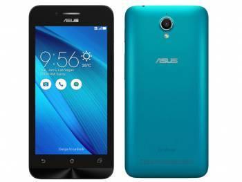 Смартфон Asus ZC451TG Zenfone Go синий, встроенная память 8Gb, дисплей 4.5 854x480, Android 5.1, камера 5Mpix, поддержка 3G, 2Sim, WiFi, BT, GPS, FM радио, microSDXC до 64Gb (90AZ00S4-M00050)