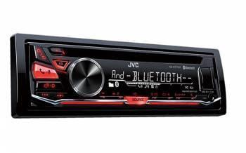 Автомагнитола JVC KD-R771BT, типоразмер 1DIN, максимальная мощность 4x50Вт, поддержка CD, фронтальный USB-порт, монохромный дисплей
