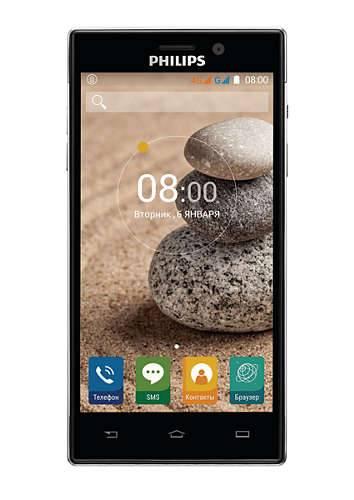 Смартфон Philips Xenium V787 16ГБ черный - фото 1