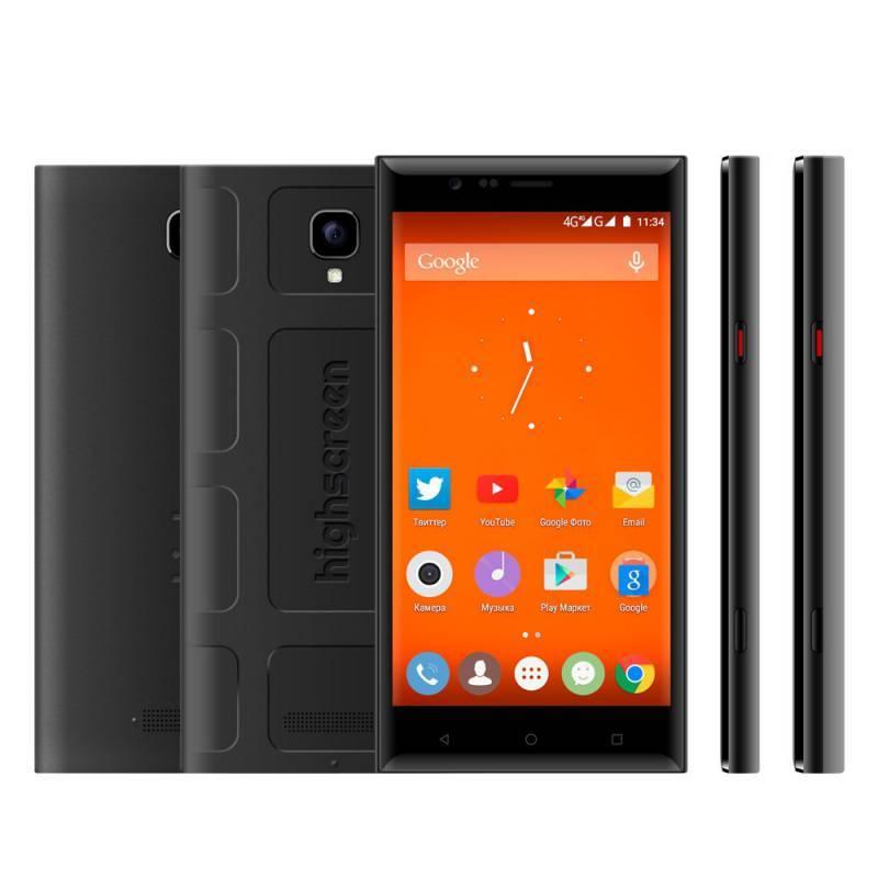 Смартфон HighScreen Boost 3 Pro черный - фото 1