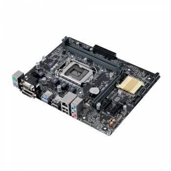 Материнская плата Asus H110M-K, гнездо процессора LGA 1151, чипсет Intel H110, память 2xDDR4, форм-фактор mATX, звук AC`97 8ch(7.1), разъемы GbLAN+VGA+DVI