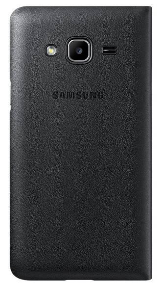 Чехол Samsung Flip Wallet, для Samsung Galaxy J3, черный (EF-WJ320PBEGRU) - фото 1