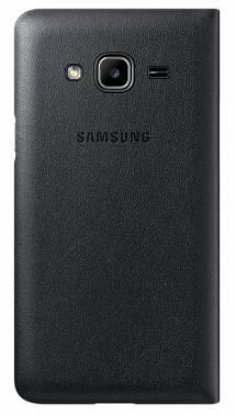 Чехол Samsung Flip Wallet, для Samsung Galaxy J3, черный (EF-WJ320PBEGRU)