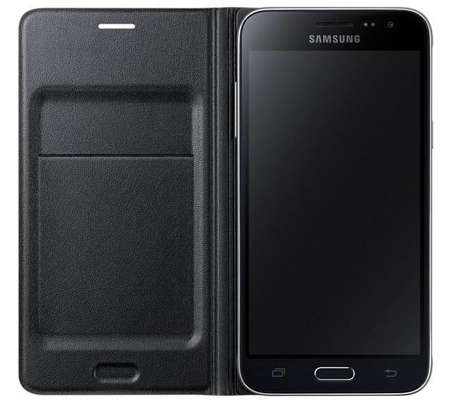 Чехол Samsung Flip Wallet, для Samsung Galaxy J3, черный (EF-WJ320PBEGRU) - фото 3