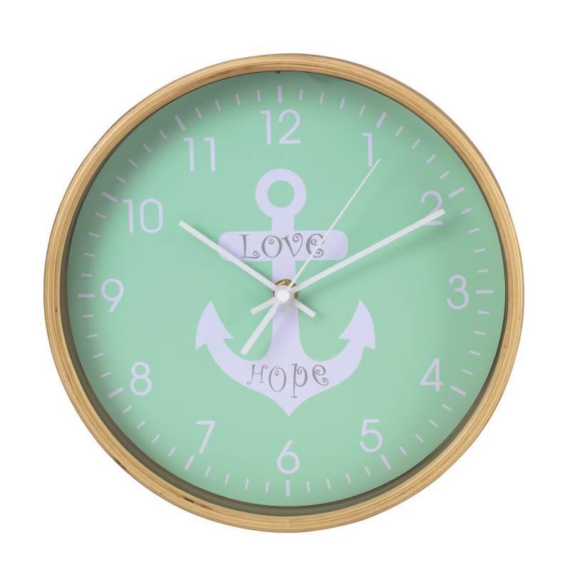 Настенные часы Hama HG-260 аналоговые зеленый - фото 1