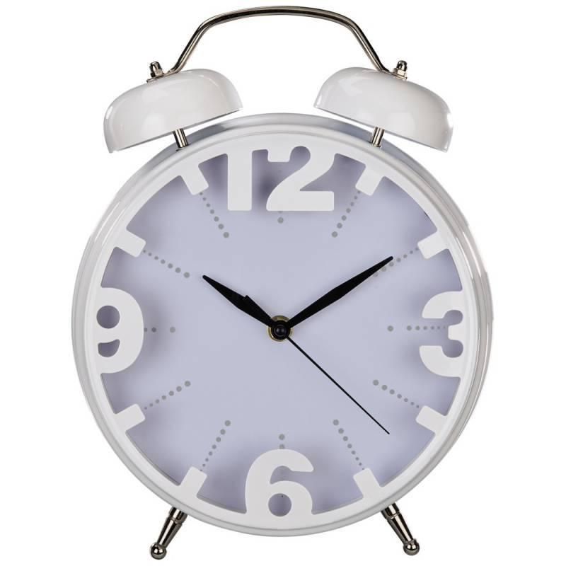 Настольные часы Hama Nostalgia аналоговые белый - фото 1
