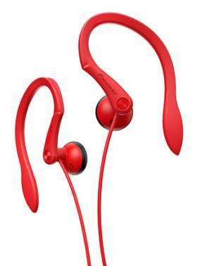 Наушники Pioneer SE-E511-R красный, вкладыши, крепление крепление за ухом, проводные, Г-образный коннектор, кабель 1.2м