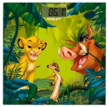 Весы напольные электронные Scarlett SC-BSD33E893 зеленый / рисунок
