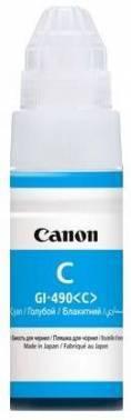 Картридж струйный Canon GI-490C 0664C001 голубой