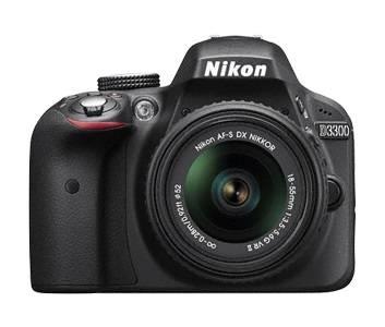 Фотоаппарат Nikon D3300 черный, 1 объектив 18-55mm VR AF-P - фото 1