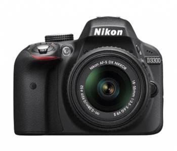Фотоаппарат Nikon D3300 черный, 1 объектив 18-55mm VR AF-P