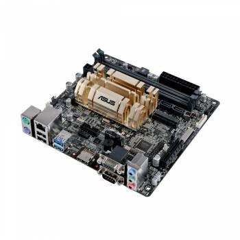 Материнская плата Asus N3150I-C, память 2xDDR3, форм-фактор mini-ITX, звук AC`97 8ch(7.1), разъемы GbLAN+VGA+HDMI