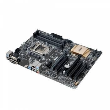 Материнская плата Asus B150-PLUS, гнездо процессора LGA 1151, чипсет Intel B150, память 4xDDR4, форм-фактор ATX, звук AC`97 8ch(7.1), слоты 2xPCI-E 3.0 x16, 2xPCI-E x1, разъемы GbLAN+VGA+DVI