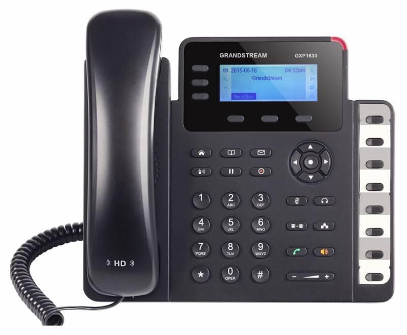 Телефон IP Grandstream GXP-1630 черный - фото 1
