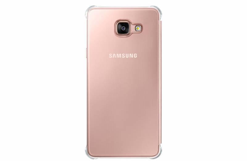 Чехол Samsung Clear View Cover, для Samsung Galaxy A7 (2016), розовое золото (EF-ZA710CZEGRU) - фото 1