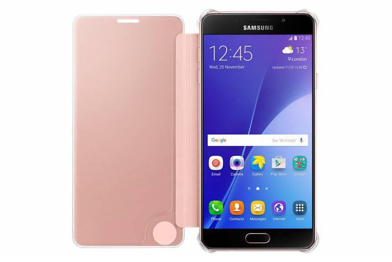Чехол Samsung Clear View Cover, для Samsung Galaxy A7 (2016), розовое золото (EF-ZA710CZEGRU) - фото 2