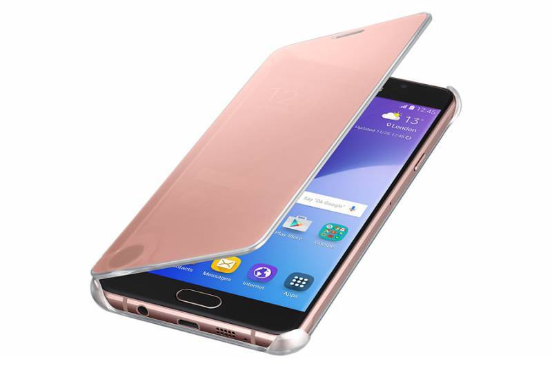Чехол Samsung Clear View Cover, для Samsung Galaxy A7 (2016), розовое золото (EF-ZA710CZEGRU) - фото 3