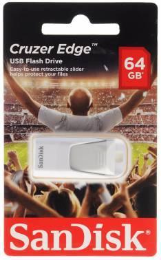 Флеш диск Sandisk Cruzer Edge EURO 2016 Football 64ГБ USB2.0 белый