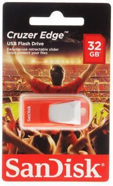 Флеш диск 32Gb Sandisk Cruzer Edge EURO 2016 Football USB2.0 красный