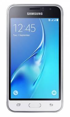 Смартфон Samsung SM-J120F Galaxy J1 (2016) белый, встроенная память 8Gb, дисплей 4.5 800x480, Android 5.1, камера 5Mpix, поддержка 3G, 4G, 2Sim, WiFi, BT, GPS, FM радио, microSD до 128Gb (SM-J120FZWDSER)