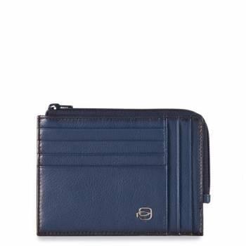 Чехол для кредитных карт Piquadro Edge PU1243ED / BLU синий натур.кожа