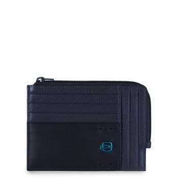 Чехол для кредитных карт Piquadro Pulse PU1243P15 / BLU3 синий натур.кожа