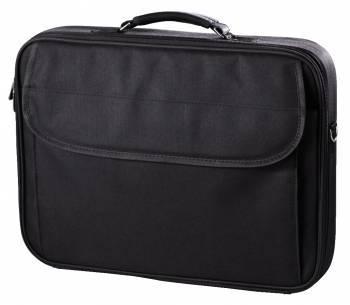Сумка для ноутбука Hama Singapur черный, полиэстер, рекомендуемая диагональ 15.6, съемный ремень, карманов внешних: 1шт (99101241)