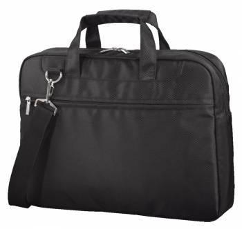 Сумка для ноутбука Hama Ghana черный, полиэстер, рекомендуемая диагональ 15.6, съемный ремень, карманов внешних: 1шт (99101246)