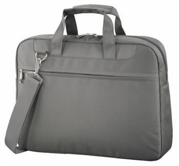 Сумка для ноутбука Hama Ghana серый, полиэстер, рекомендуемая диагональ 15.6, съемный ремень, карманов внешних: 1шт (99101247)