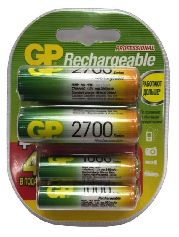 Аккумулятор AA/AAA GP 270AA/100AAAHCFR-2CR8 (8шт) - фото 1