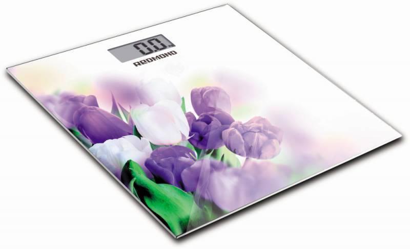 Весы напольные электронные Redmond RS-733 белый/тюльпан - фото 1