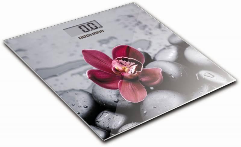 Весы напольные электронные Redmond RS-733 серый/орхидея - фото 1