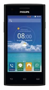Смартфон Philips S309 8Gb черный моноблок 3G 2Sim 4 800x480 Android 5.1 5Mpix WiFi BT GPS GSM900/1800 GSM1900 TouchSc MP3 FM A-GPS microSDHC max32Gb (867000135412)